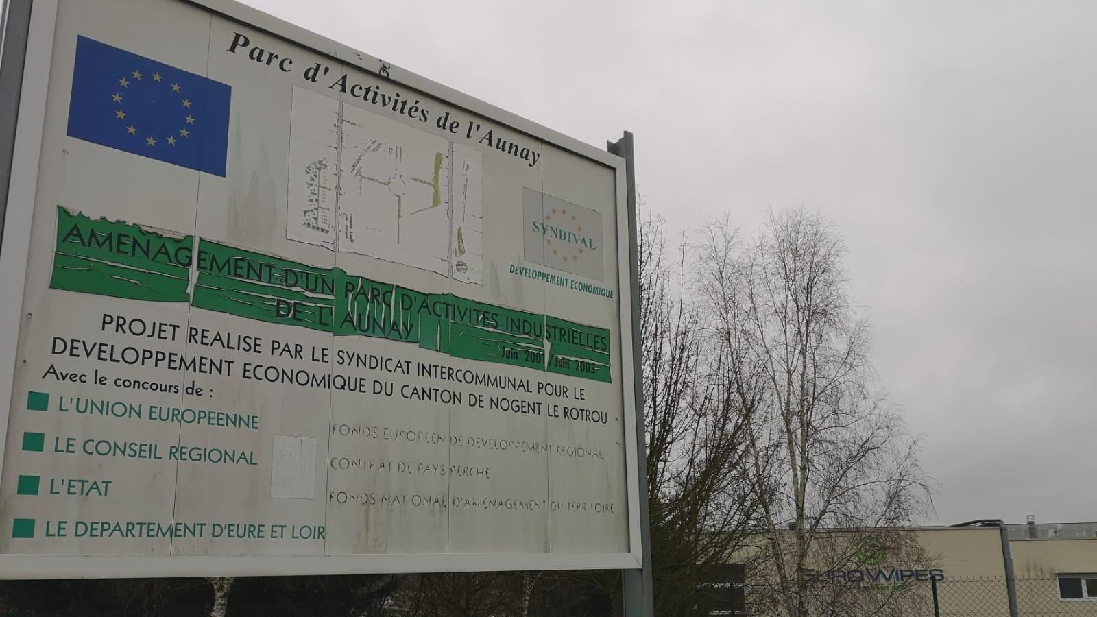 Parc d'activité de l'Aunay et entreprise Euro Wipes